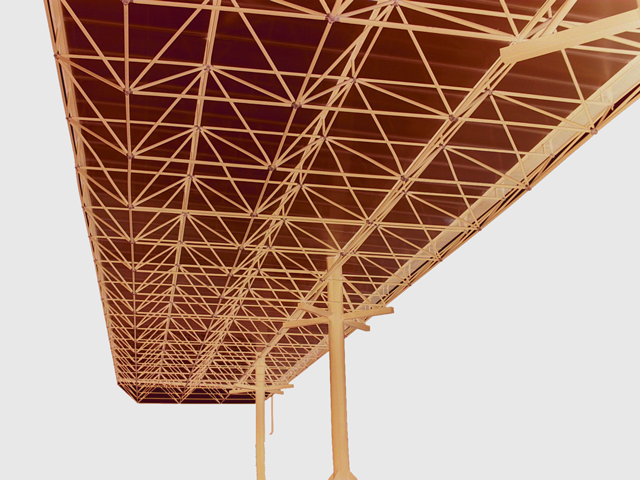 architectural design of a space frame
