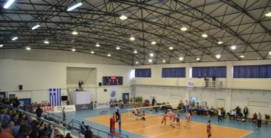 Space frame structure for indoor stadium in Pylos