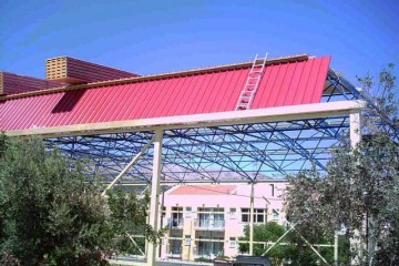 Cladding of space frame for Chios indoor court