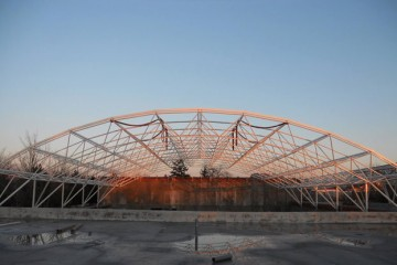 Space frame after erection process in Crangas, Bucharest